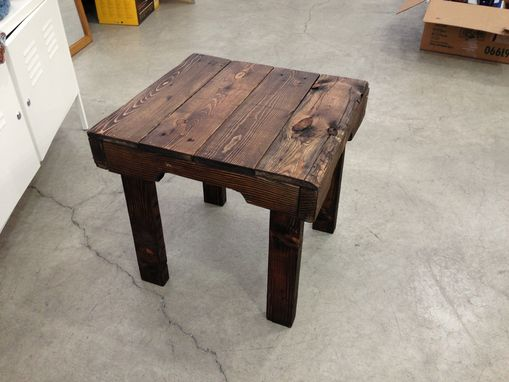 Custom Made Dark Walnut Side Table
