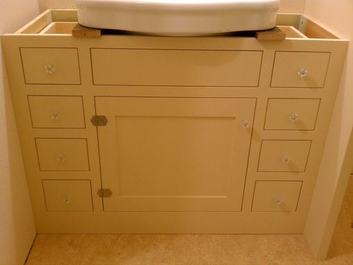 Custom Made Bath Cabinet For Pedestal Sink