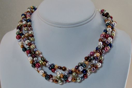 Custom Made Pearl Necklace With Sterling Silver