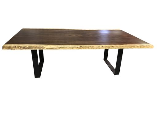 Custom Made Live Edge Dining Table With Steel Legs
