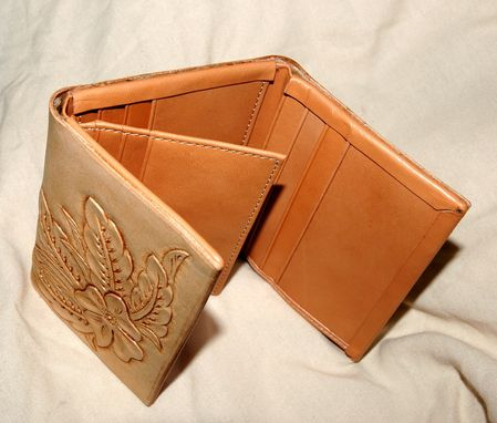 Custom Made Hand Tooled Leather Wallet