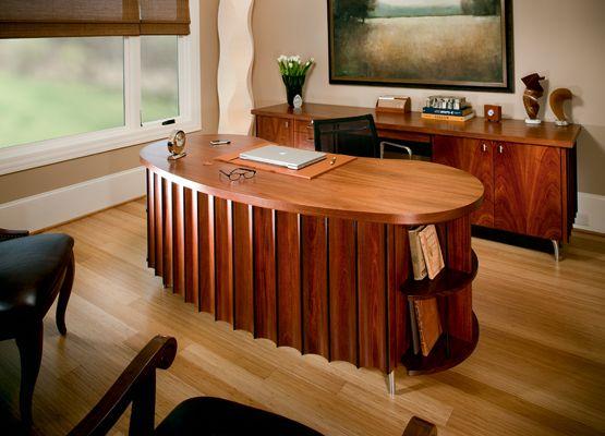 Custom Made Kidney Bean Desk And Credenza