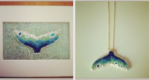Custom Made Seed Bead Embroidered Whale Tales