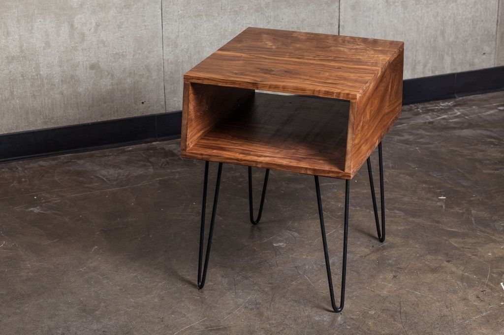 Hand Made Walnut Side Table By Travis Hayes Furniture