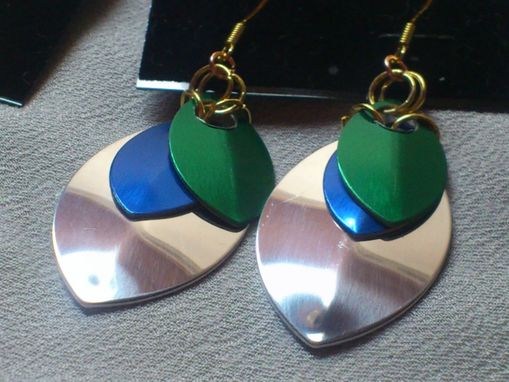 Custom Made Scale Maille Earrings
