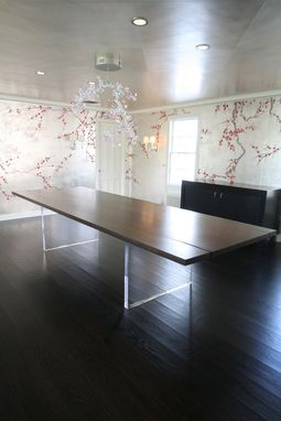 Custom Made Walnut Slab Dinning Table