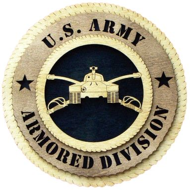 Custom Made U.S. Army Armored Division Wall Tribute, U.S. Army Armored Division Hand Made Gift