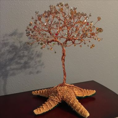 Custom Made Copper Wire Tree Sculpture