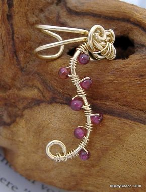 Custom Made Gold Filled & Gemstone Ear Cuffs