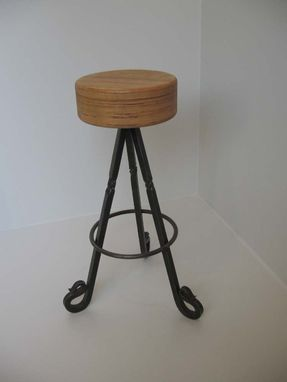 Custom Made Wrought Iron Stool