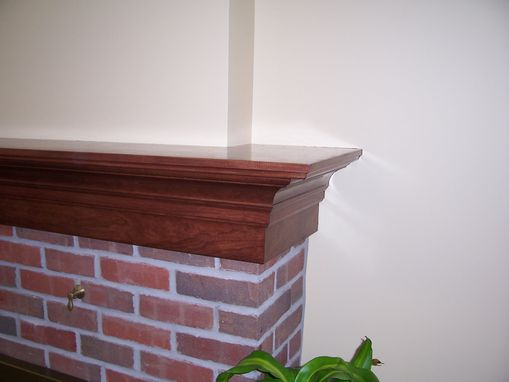 Custom Made Custom Fireplace And Cherry Mantle