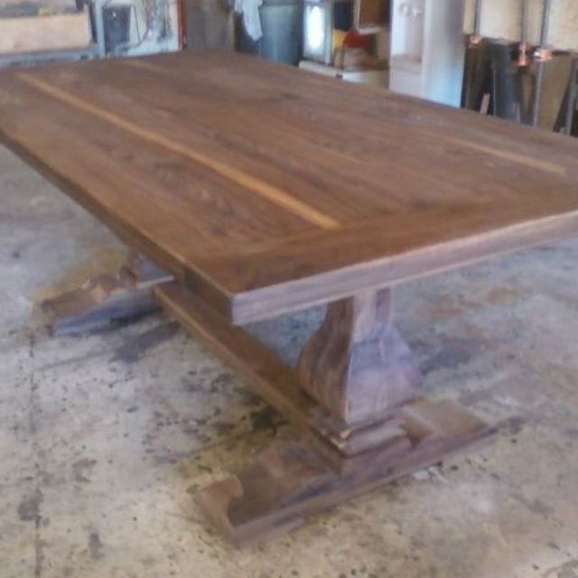 Walnut furniture solid black walnut tables and more custommade walnut trestle table by jeff santini workwithnaturefo