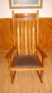 Custom Made Cape Rocking Chair (Cherry)