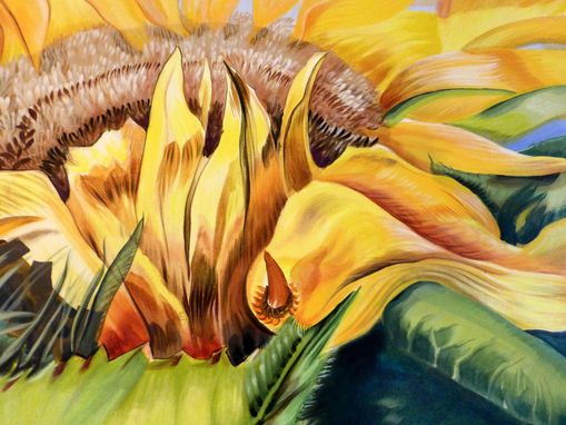 Custom Made Manhattan Sunflower Commission Helios Painting Nyc Muralist