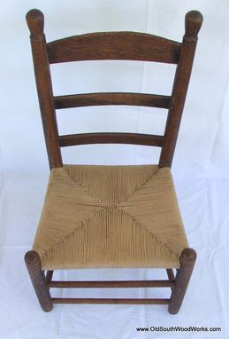 Custom Made Granny Chair With Brown Fiber Rush