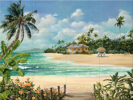 Custom Made Hideaway Cove Tile Mural