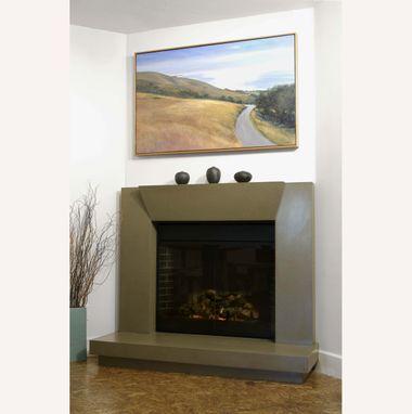 Custom Contemporary Polished Concrete Fireplace Surround