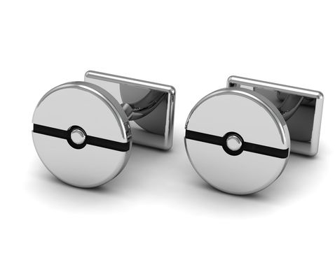 Custom Made Pokeball Cufflinks