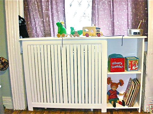 Custom Made Radiator Cover With Bookcase