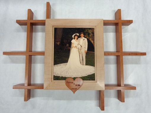 "Custom Made Wall Shelf With 11""X 14"" Picture Frame"