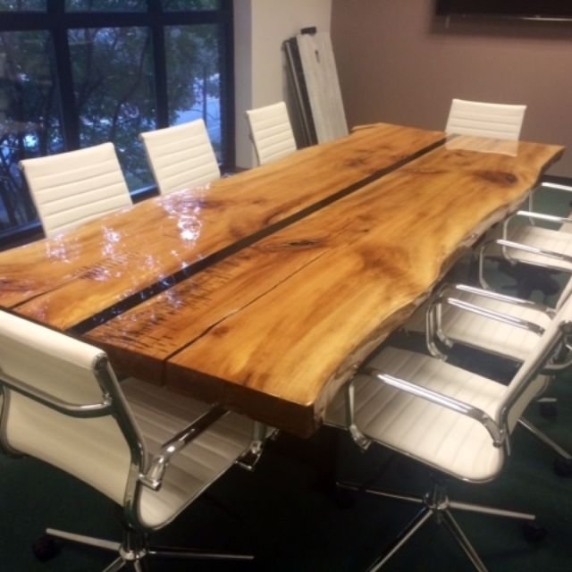 10 Live Edge Conference Table
