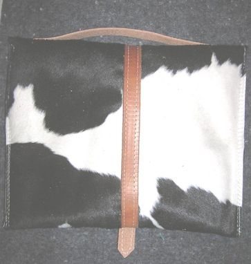 Custom Made Cowhide Ipad Case Black