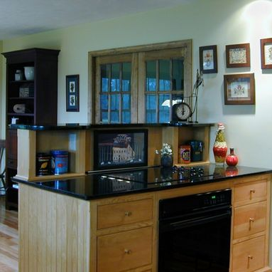 Custom Made A Furnished Kitchen In A Saltbox