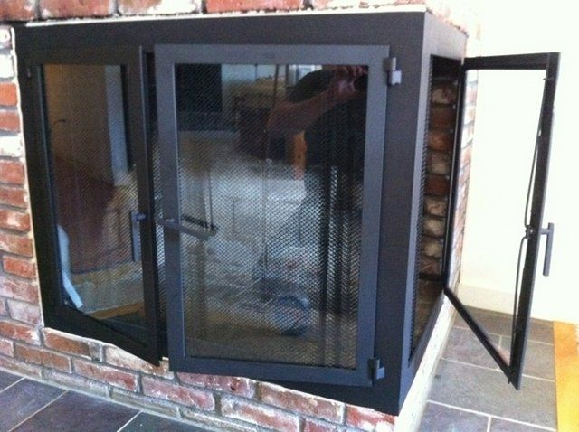 Custom Corner Fireplace Doors By Iron It Out Custommade Com