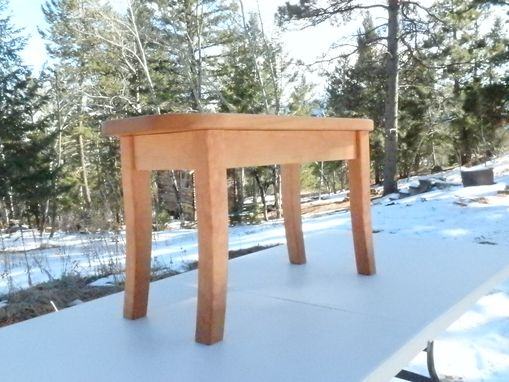 Custom Made Solid Cherry Entryway Bench