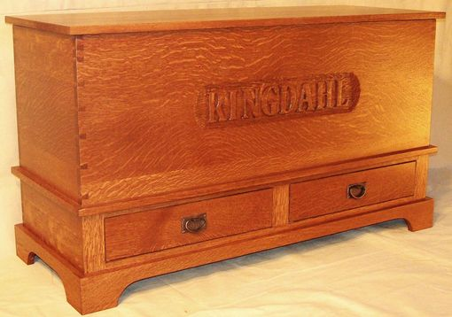 Custom Made Hand Carved Mission Hope Chest