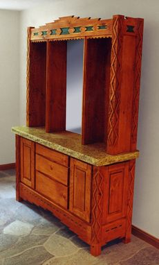 Custom Made Sante Fe Style Sideboard
