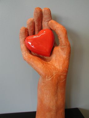 Custom Made Hand Sculpture -Holding My Heart