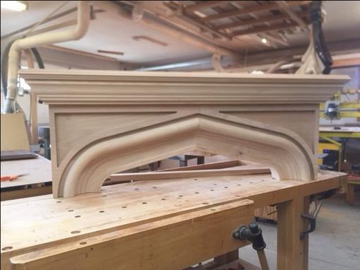 Custom Made Tudor Style Mantel