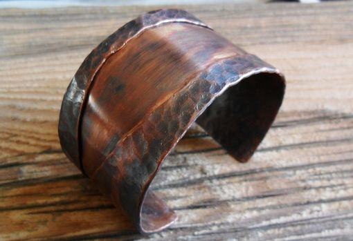 "Custom Made Unisex Hammered Copper Cuff ""A River Runs Through It''"