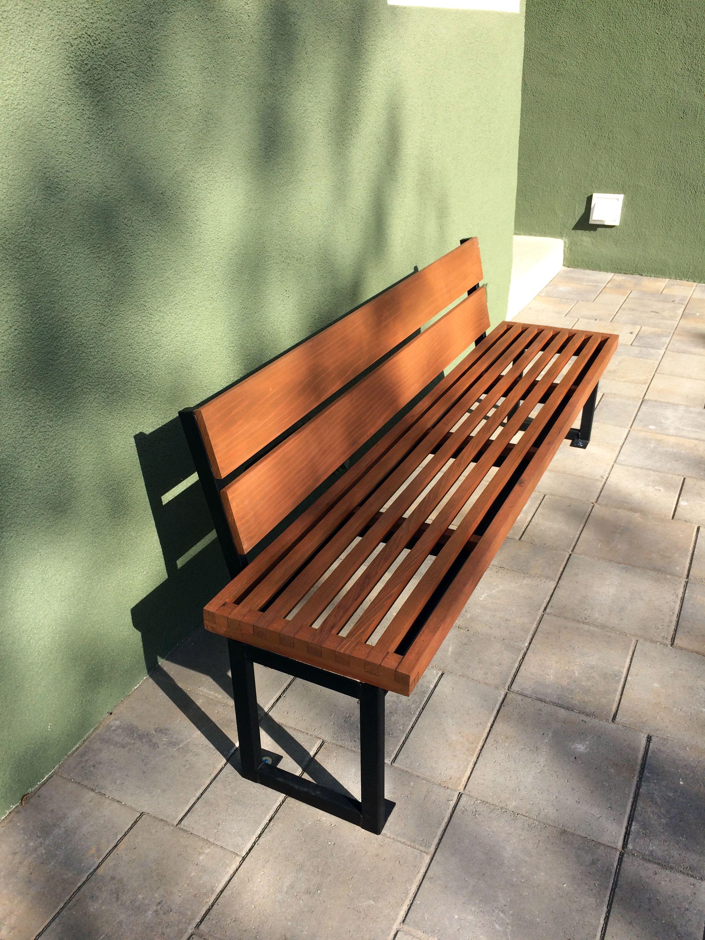 Terrific Handmade Modern Outdoor Bench By Heirloom Carpentry Inzonedesignstudio Interior Chair Design Inzonedesignstudiocom