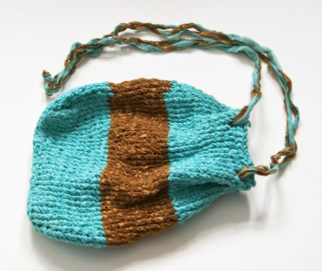 Custom Made Gold And Turquoise Pouch