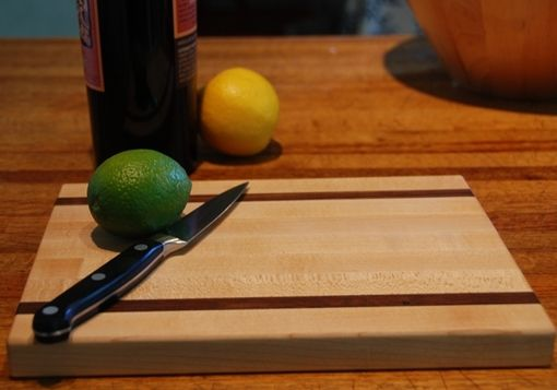 Custom Made Maple And Walnut Long Grain Cutting Board