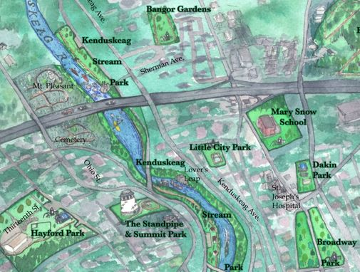 Custom Made Maps for Community Parks and Land Trusts