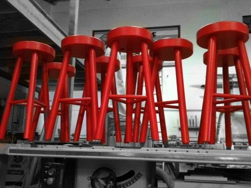 Custom Made Painted Stools