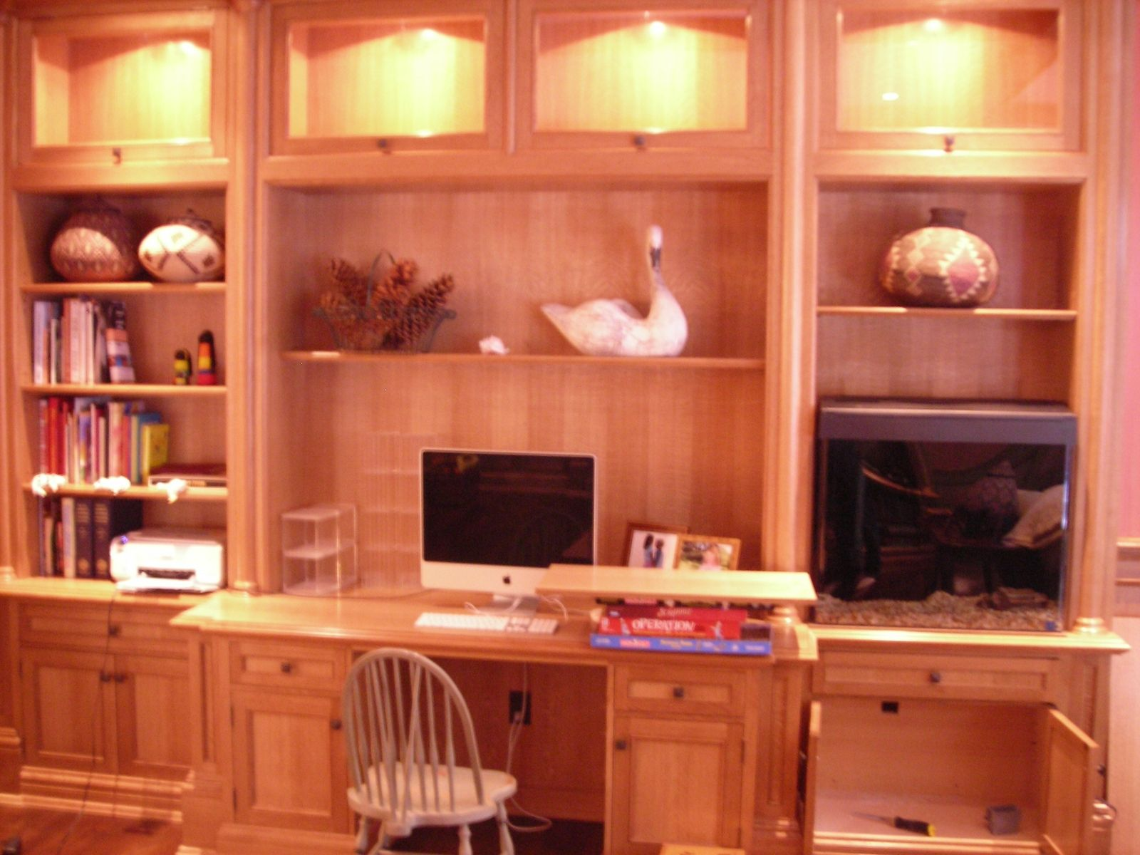 Handmade White Oak Wall Units by Davids Woodworking | CustomMade.com