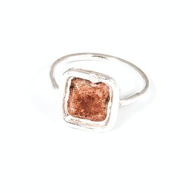 Custom Made Silver & Copper Square Ring