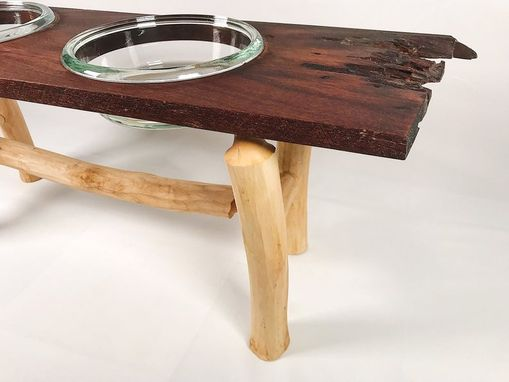 Custom Made Black Walnut Dog Bowl Stand