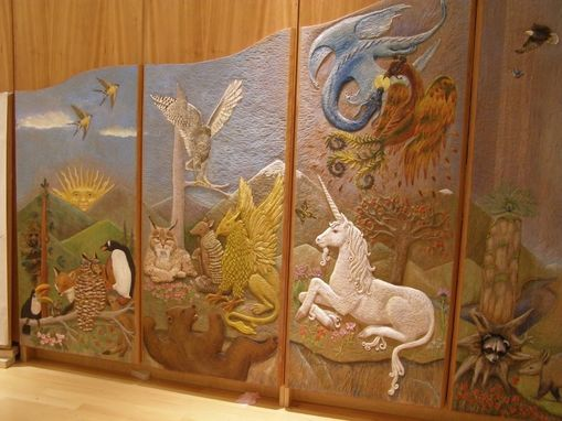 Custom Made Carved Wall Panels And Puppet Theater