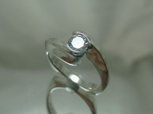 Custom Made Solitaire Twist Ring