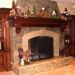 Hand Crafted Wrap Around Or 3 Sided Fireplace Mantel By