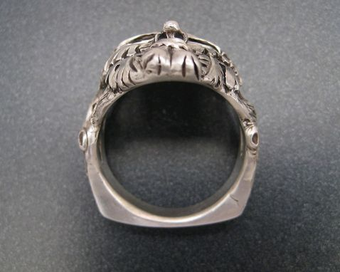 Custom Made Sterling Greenman Ring