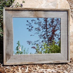 barnwood mirror lighthouse style rustic wood by - My Barnwood Frames