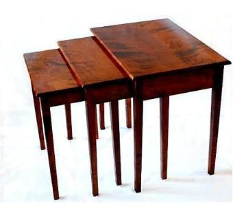 Custom nesting snack and end tables by don laporte fine woodworking nesting snack and end tables watchthetrailerfo