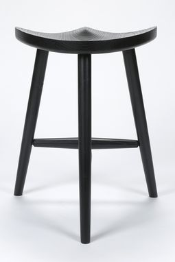 Custom Made Ebonized Wood Stool