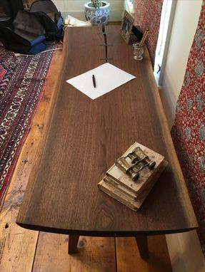 Custom Made Live Edge Writing Desk